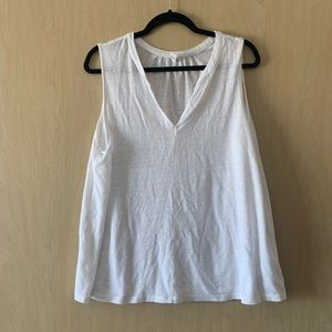 Old Navy | Linen Tank Top | White | XL